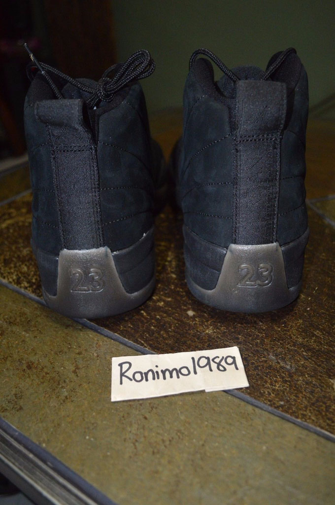f58c79539b8398 Drake x Air Jordan XII 12 OVO Black (5)