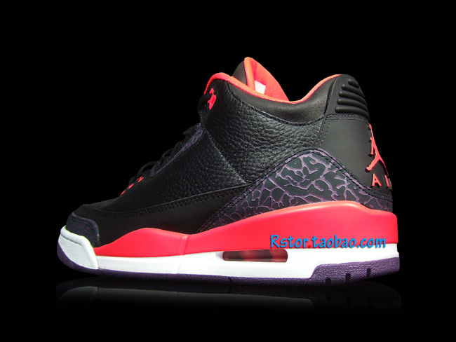 Air Jordan III 3 Black Crimson Purple 136064-005 (2)