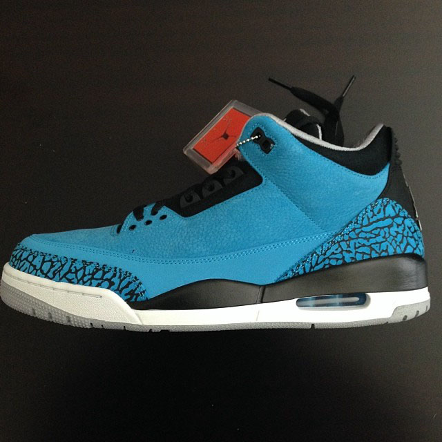 Fat Joe Picks Up Air Jordan 3 Powder Blue