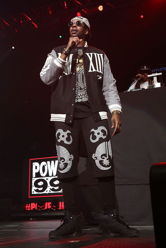 2 Chainz wearing A$AP Rocky x Jeremy Scott adidas Originals Wings 2.0 Black Flag