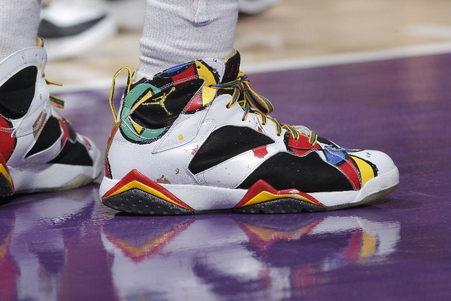 Nate Robinson Wears 'Miro' Air Jordan 7