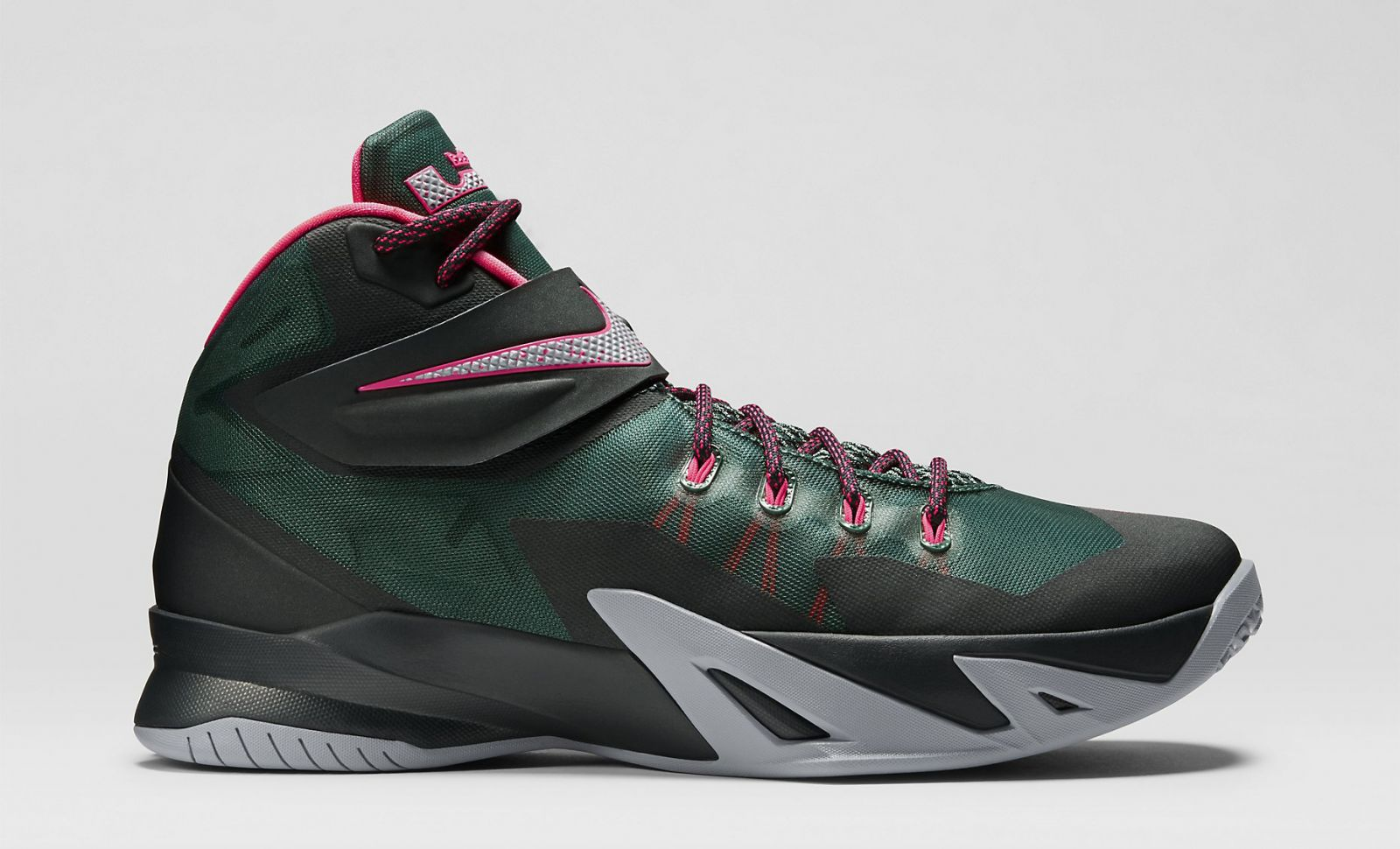 The Nike Zoom Soldier 8 in Black and Hyper Punch