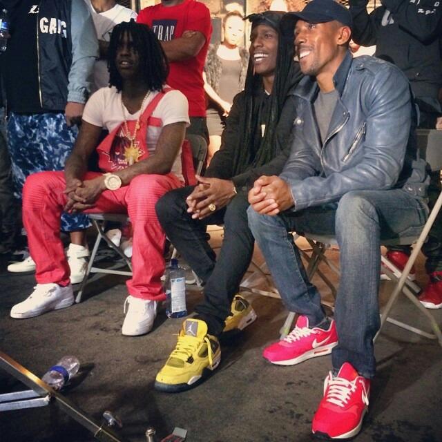 c3c39717882de9 A AP Rocky wearing Air Jordan IV 4 Lightning  Chief Keef wearing Nike Air