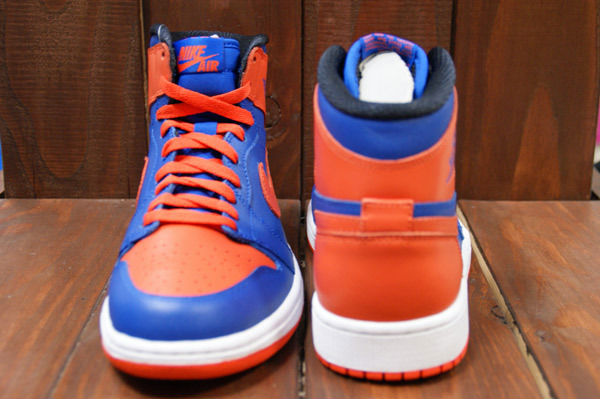 Air Jordan Retro I 1 High OG Knicks Melo Game Royal Team Orange 555088-407 (5)