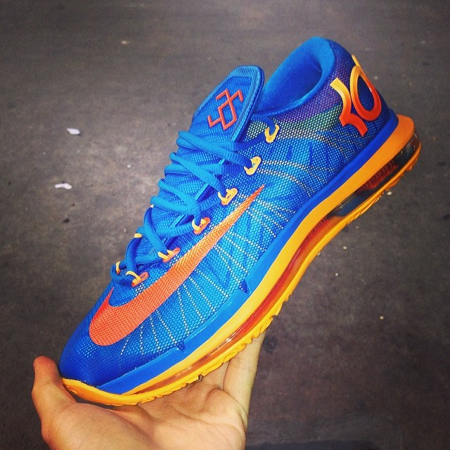 nike kd 6 elite blue orange