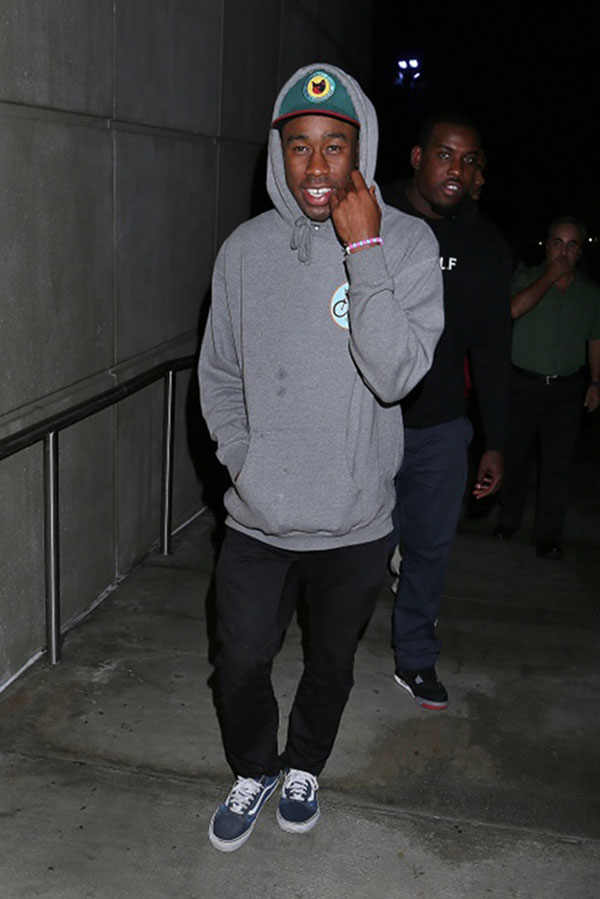 Tyler The Creator wearing Vans Old Skool