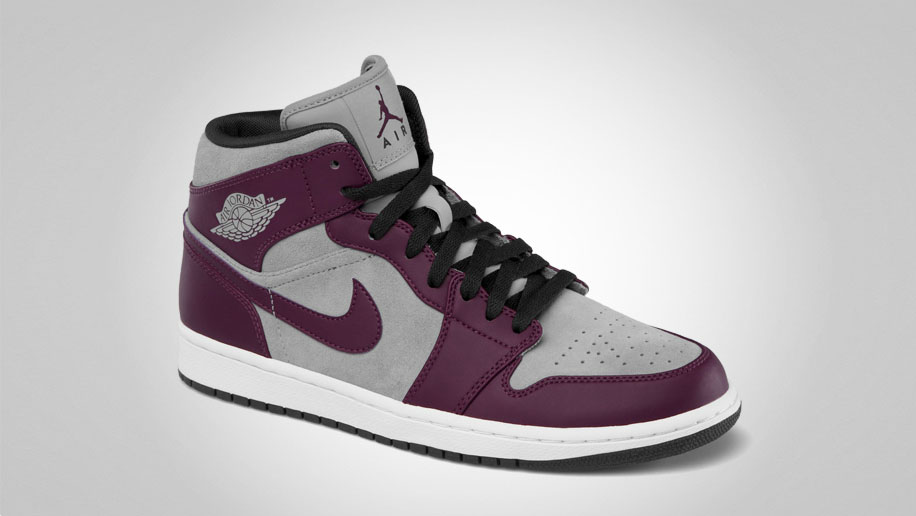 Air Jordan 1 Phat Bordeaux Stealth Black White 364770-605 (2)