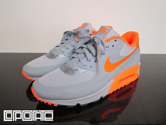 nike air max 90 hyperfuse grey and orange