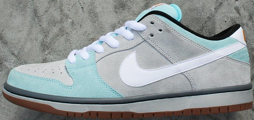 Nike Dunk Low Pro SB Glacier Ice/White-Light Ash Grey