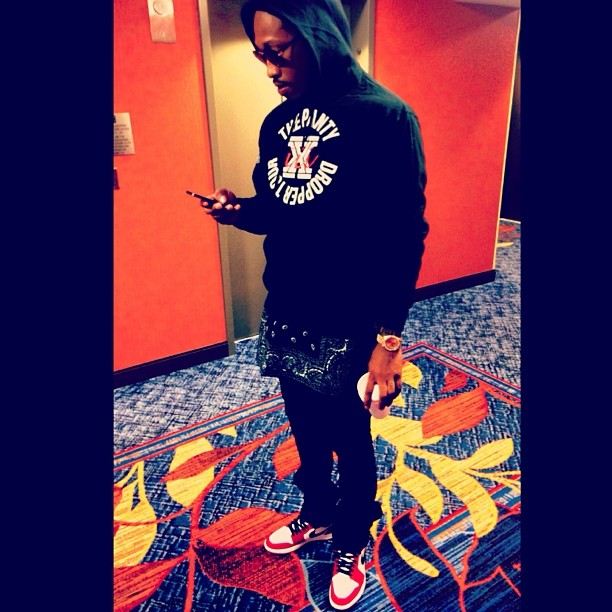 Future wearing Air Jordan 1 Bulls