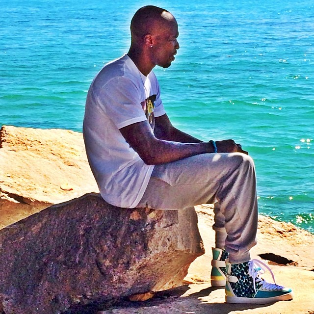 Chad Johnson wearing Christian Louboutin Alfie