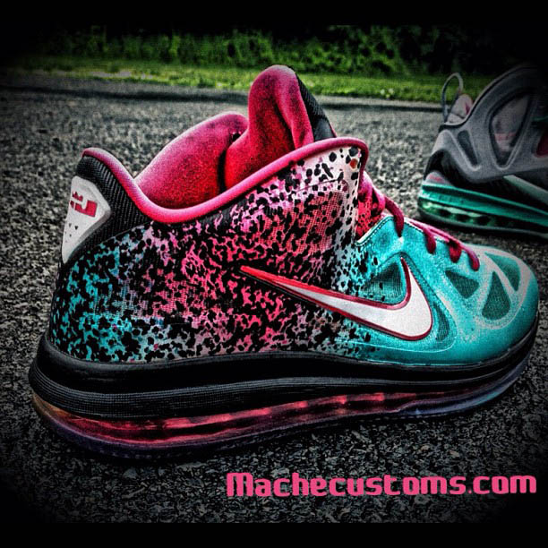 Nike LeBron 9 Low Miami Nights by Mache Custom Kicks (1)