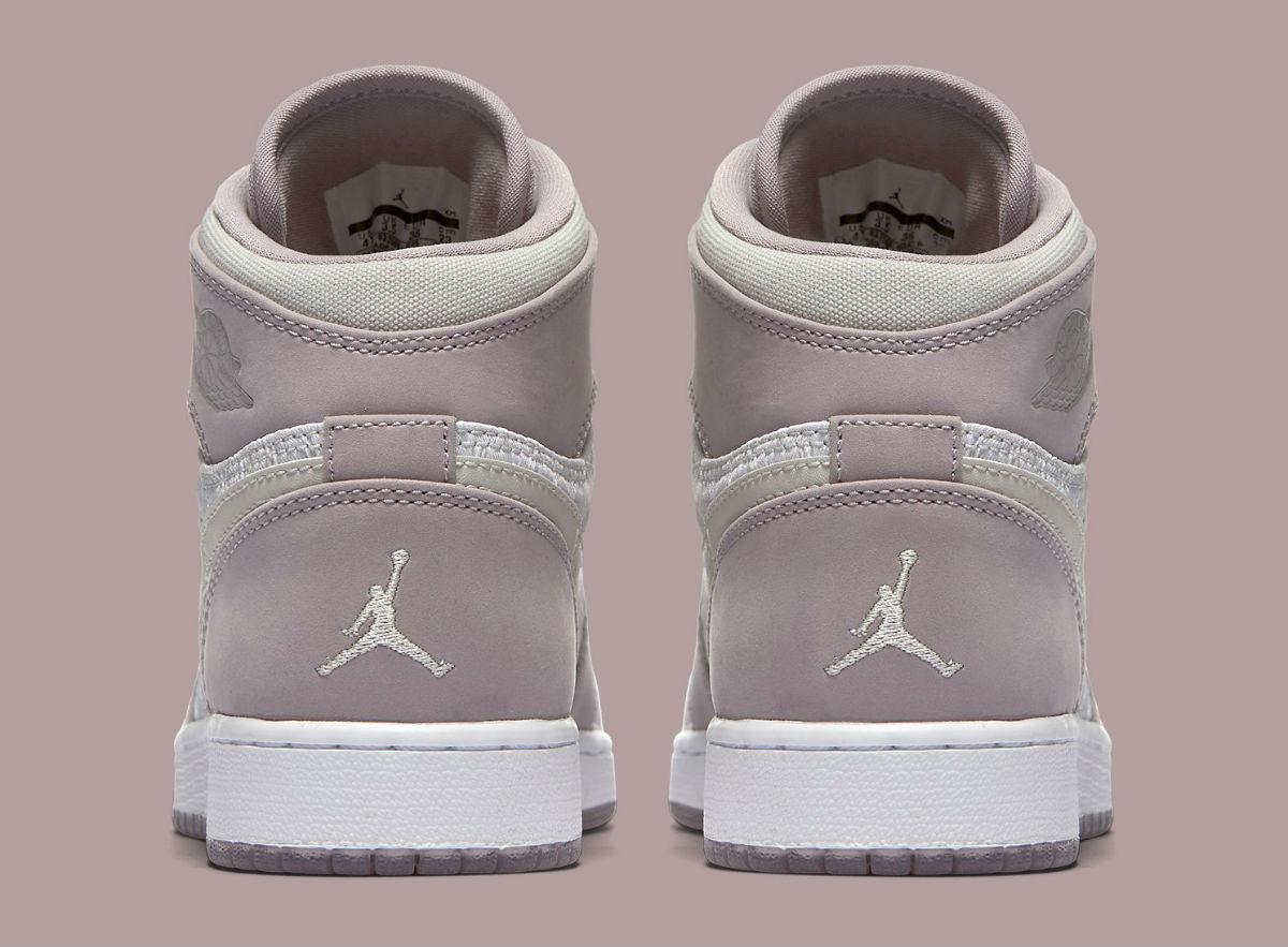 Air Jordan 1 GS Girls Heiress Plum Fog Heel 832596-025