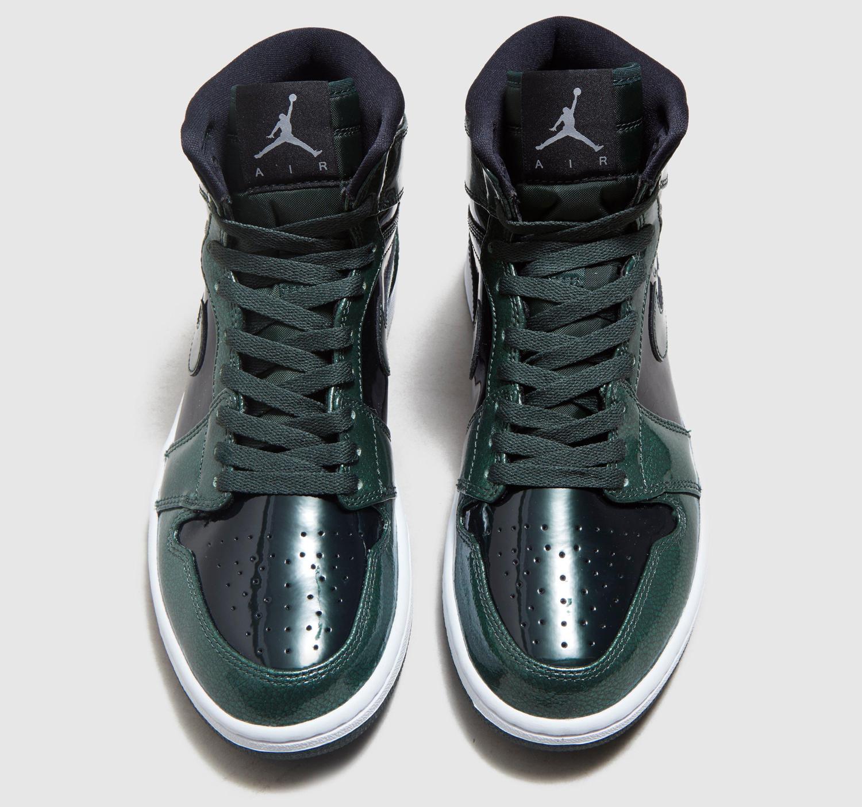 5b2930bb01ef Air Jordan 1 High Grove Green Patent Leather 332550-300