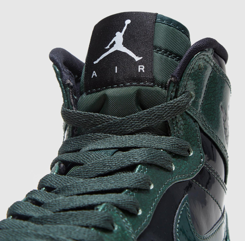 Air Jordan 1 Gorge Green Patent Leather 332550-300 Tongue a0a2b7e86