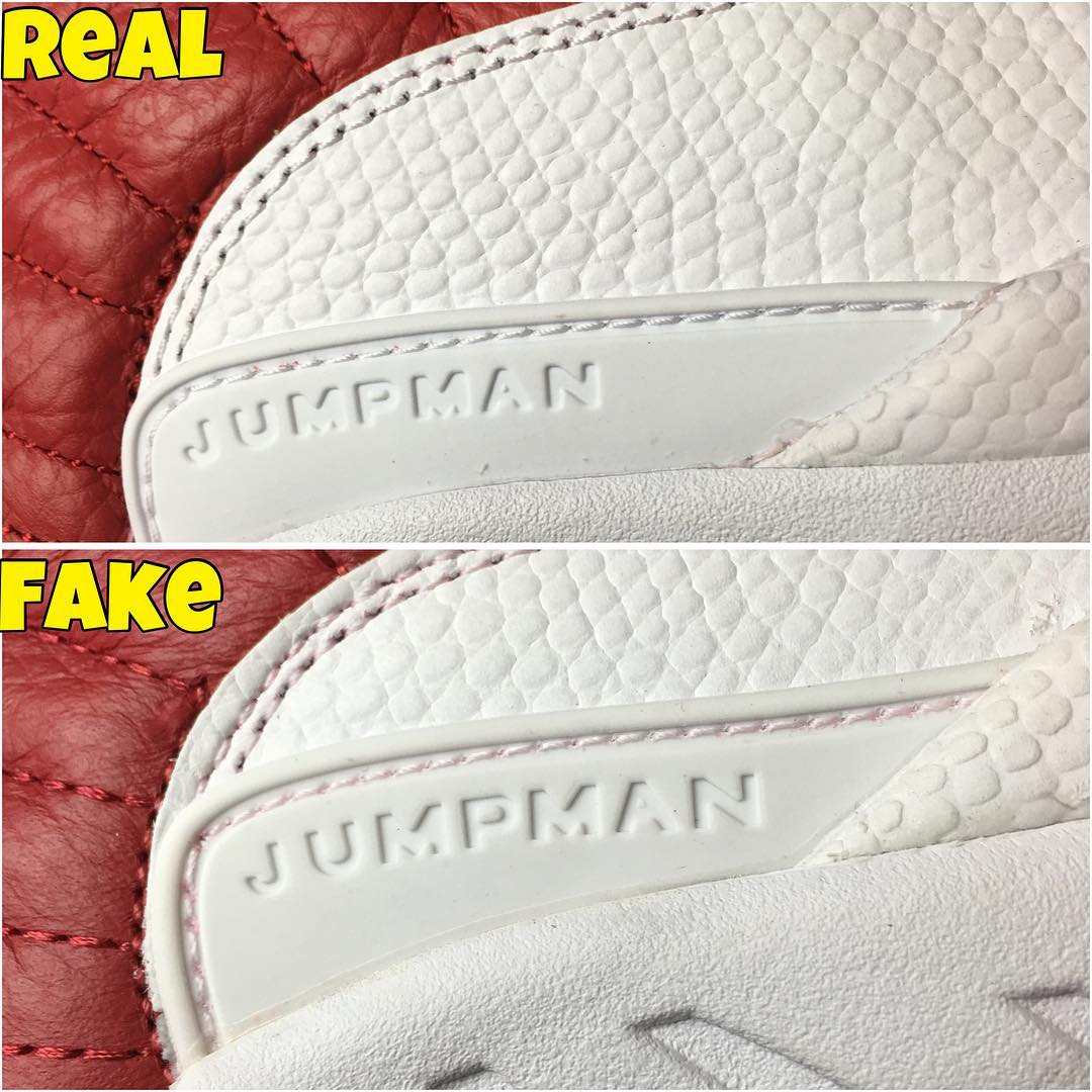 Real Vs Fake Retro 12: Air Jordan XII 12 Gym Red Alternate Real Fake Legit Check