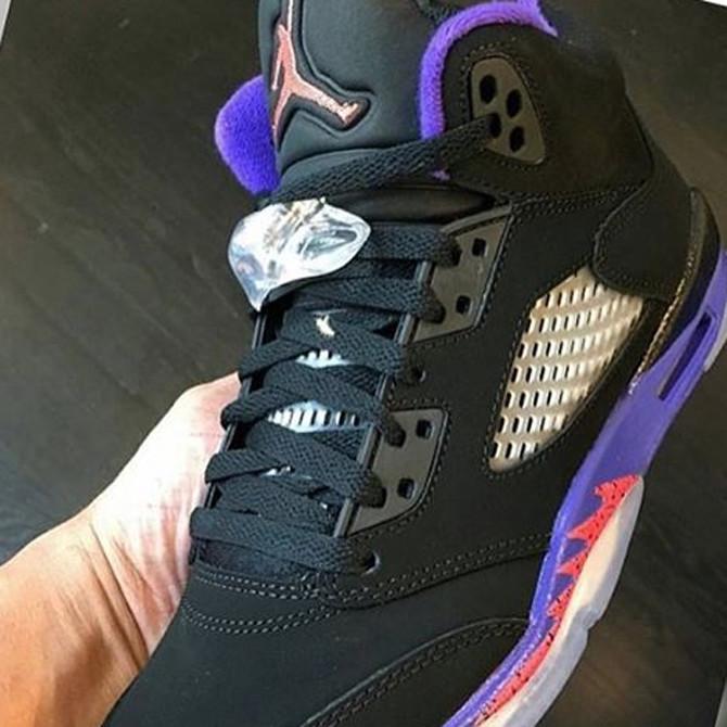 Air Jordan 5 Black Ember Glow Purple 440893-017