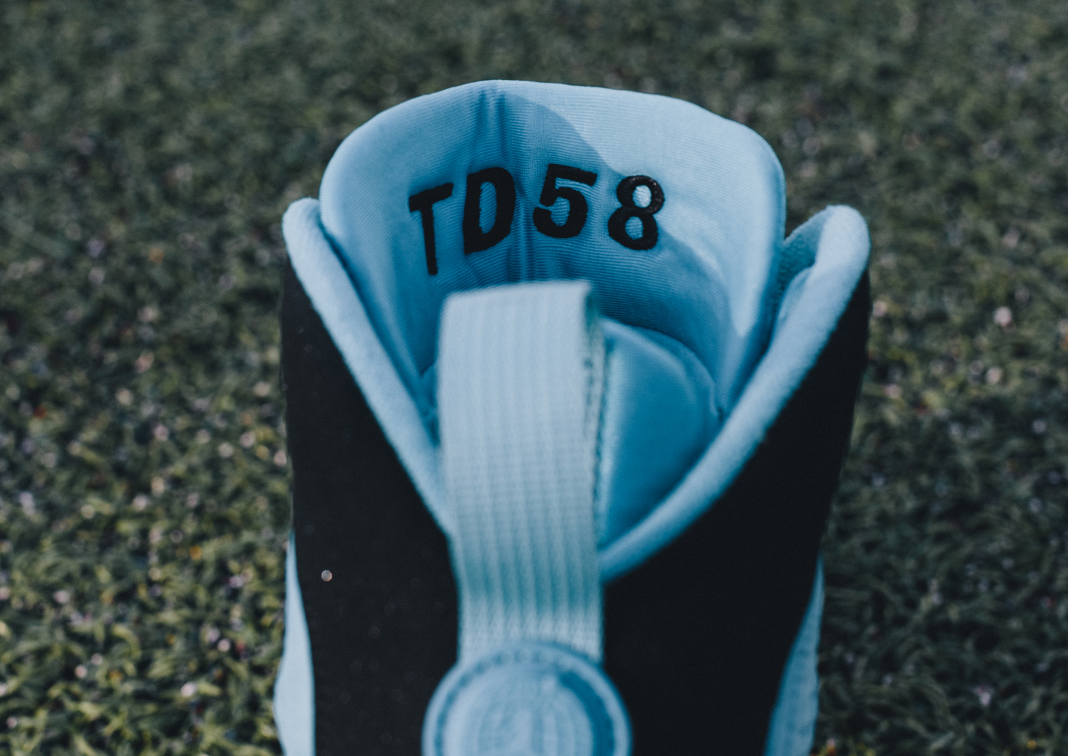 Air Jordan 9 Thomas Davis Cleats Tongue
