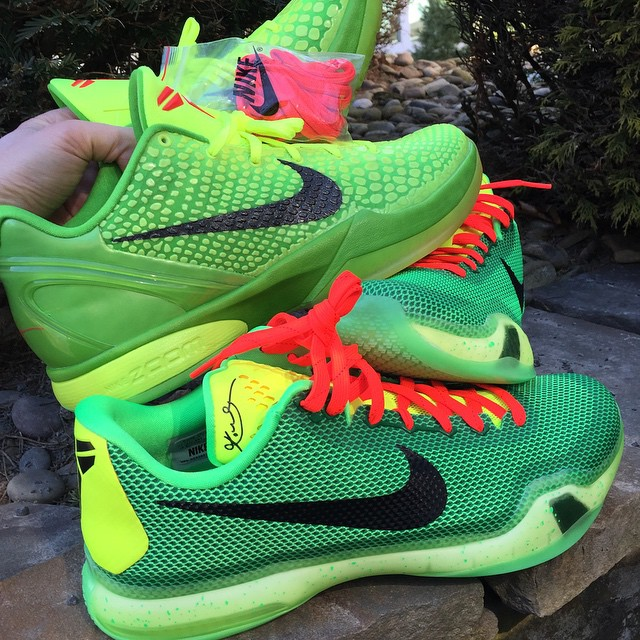 more photos 05884 00893 Nike iD Kobe 10 Grinch