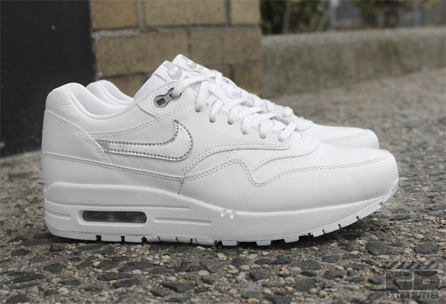 nike air max 1 all white leather