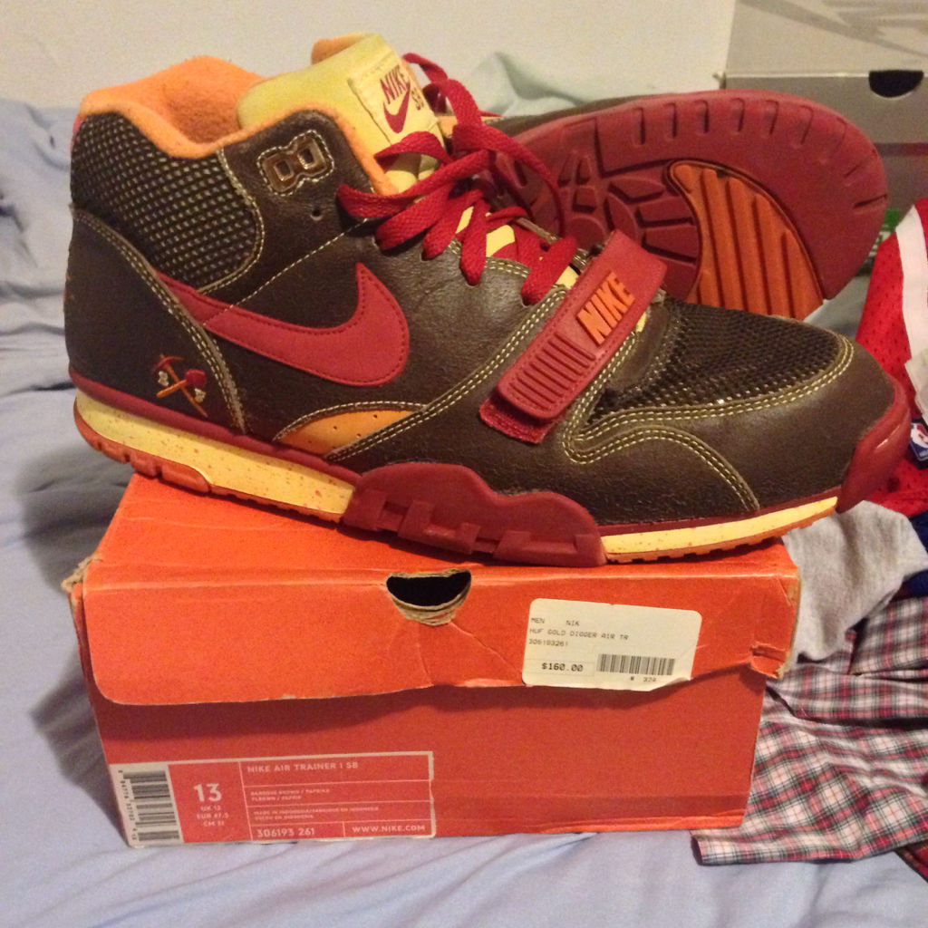 Spotlight // Pickups of the Week 10.6.13 - HUF x Nike Air Trainer 1 SB Gold Digger by chumlee