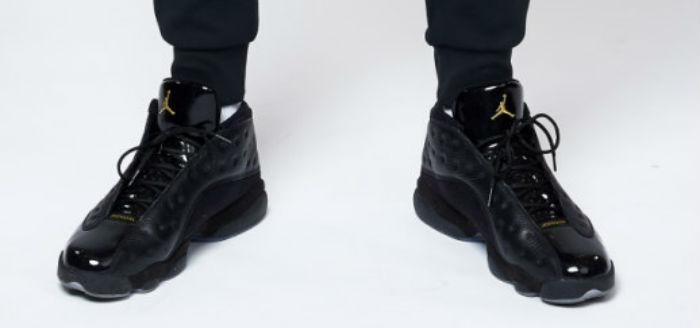 Air Jordan 13 Black Grey Gold