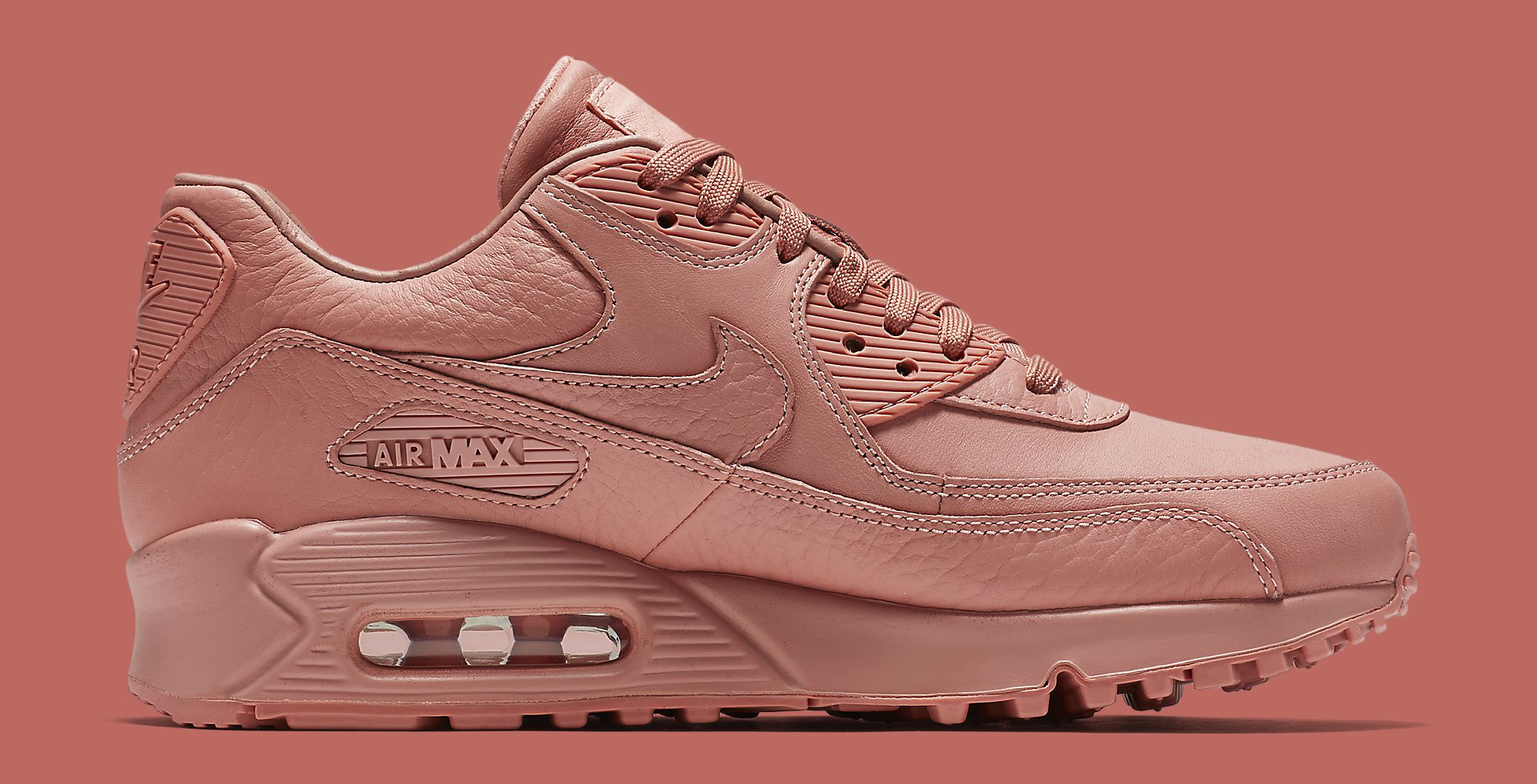89870a4c1b47 Image via Nike Nike Air Max 90 Pinnacle Pink 839612-601 Medial
