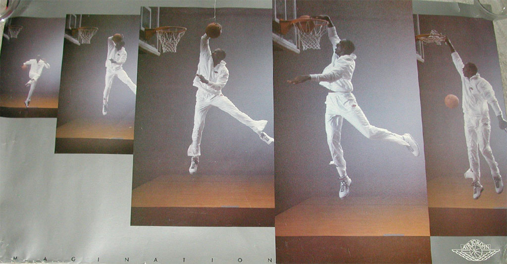 Michael Jordan 'Imagination' Nike Air Jordan Poster (1986)