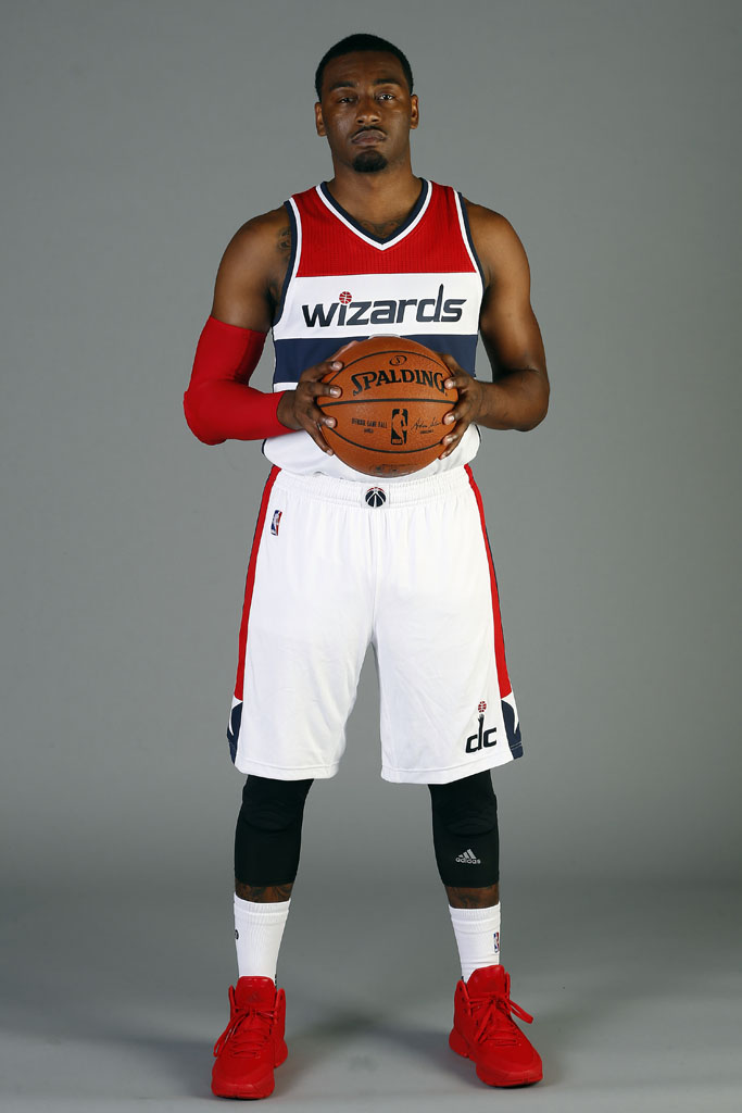 John Wall wearing the 'Red' adidas J Wall 2