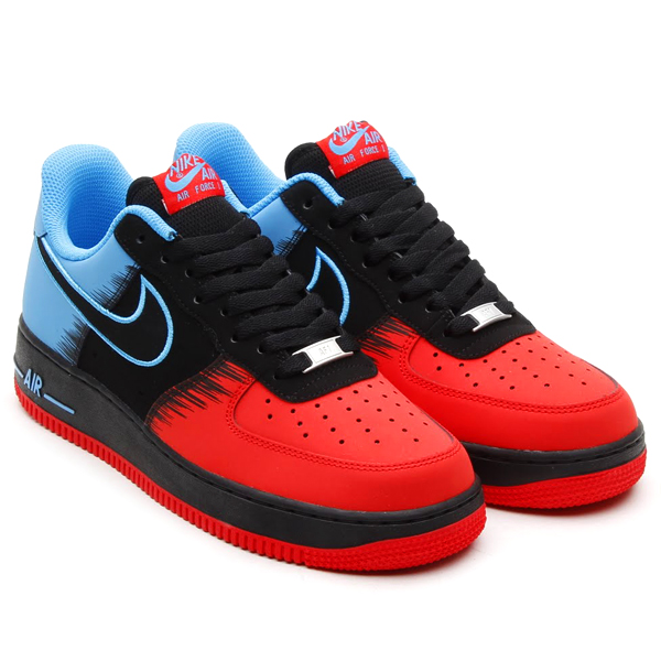 Nike Air Force 1 Low Spiderman in Light Crimson Black and Vivid Blue