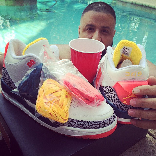 DJ Khaled Picks Up Sole Fly x Air Jordan III 3 Lotto