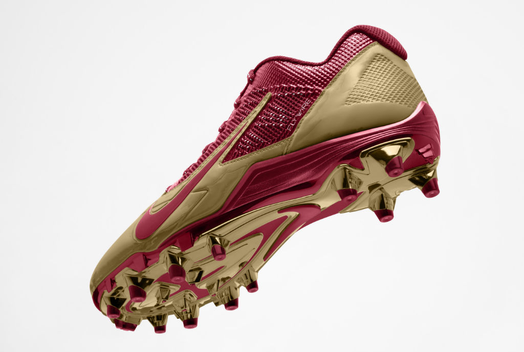Nike Alpha Pro Cleats for San Francisco 49ers (3)