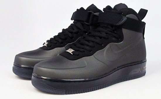 air force 1 foamposite black and white