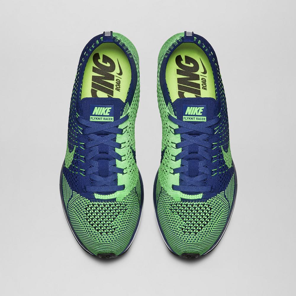 af9e4e117afdf Nike Flyknit Racer Color  Brave Blue Poison Green Style    526628-403.  Price   150