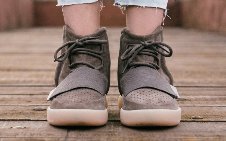 Chocolate Yeezy 750 Boosts On Feet 2