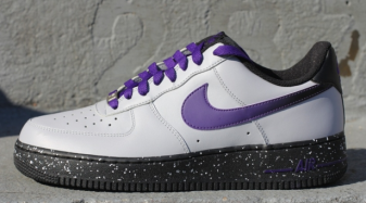Nike Air Force 1 Gris Bas Loup / Cour Violet