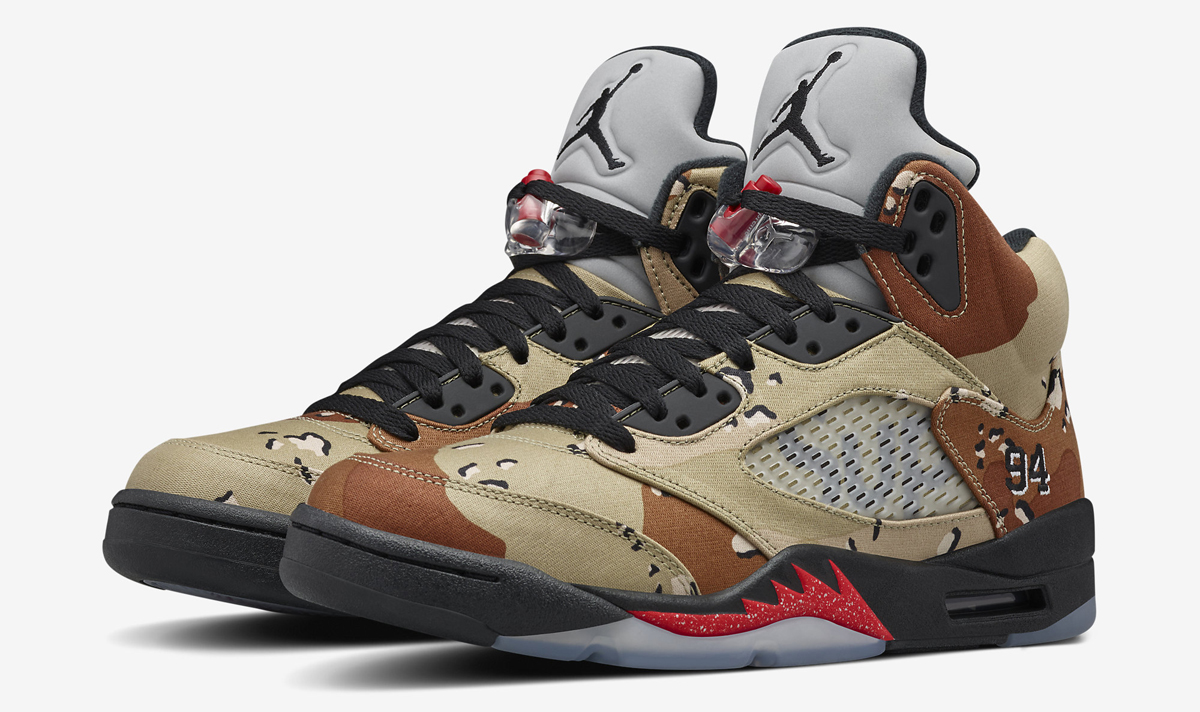 aea4130765553e Is the Camo Supreme x Air Jordan 5 Releasing Online Today