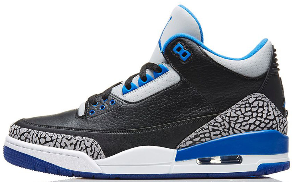 Air Jordan 3 Black Blue Grey