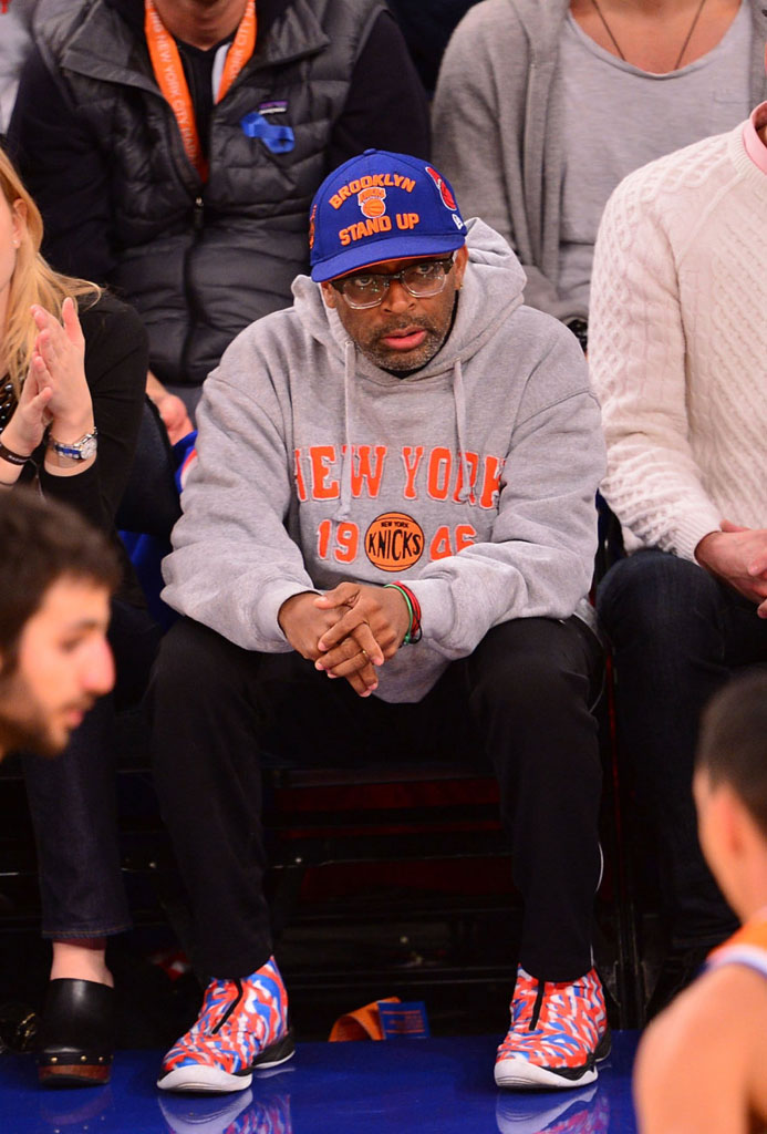 Spike Lee wearing Air Jordan 28 XX8