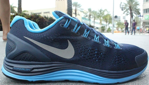 Nike Lunarglide+ 4 Midnight Navy/Reflective Silver-Blue Glow