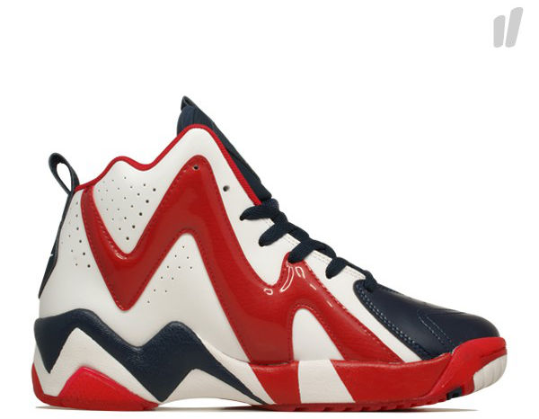 Reebok Kamikaze II White Red Navy V46096 (2)