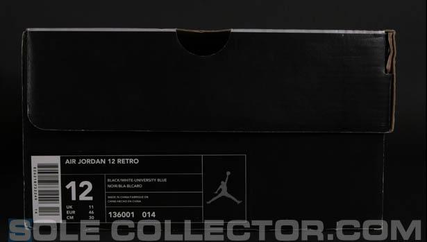 Air Jordan 12 Retro Nubuck Black University Blue shoes