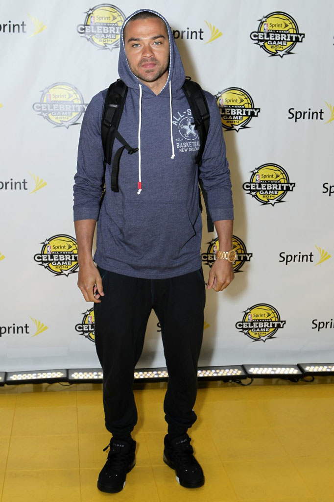 Jesse Williams wearing Nike Air Force Max