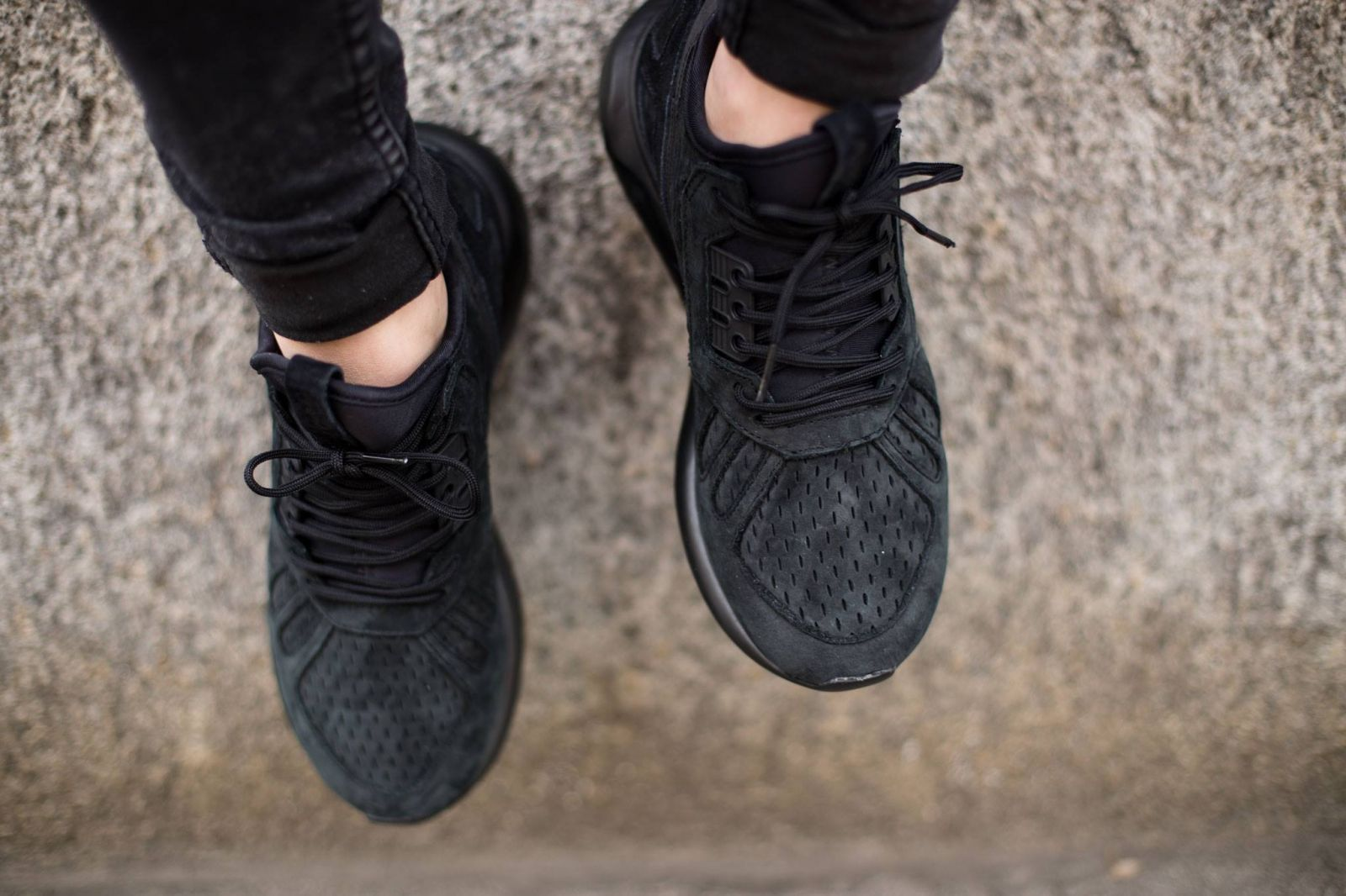 adidas Tubular Runner Black Running Inspired SHOEBACCA