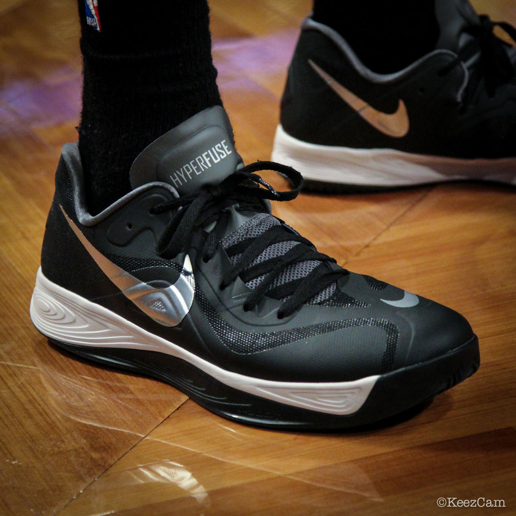 SoleWatch // Up Close At Barclays for Nets vs Clippers - Jared Dudley wearing Nike Hyperfuse 2012 Low