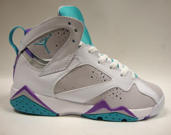 89c08b605fceb4 Air Jordan Retro 7 GS - Neutral Grey Mineral Blue-Bright Violet-White