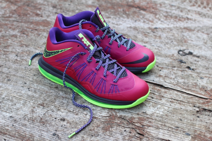 42e23012e7d1 Detailed Look    Nike LeBron X Low - Raspberry Red