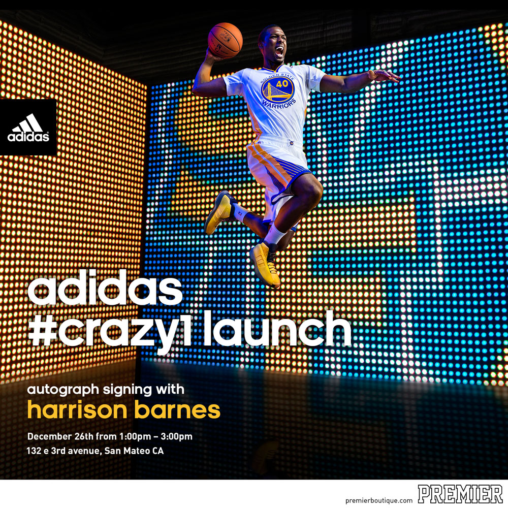 adidas Crazy 1 Launch Event at Premier Boutique with Harrison Barnes