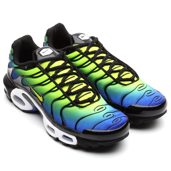 100% high quality famous brand temperament shoes Nike Air Max Plus - Hyper Blue / Cyber / Black | Sole Collector