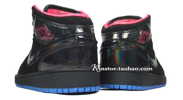 Air Jordan 1 Phat Girl's Black Spark Blue Crystal 454659-001